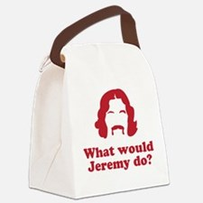 whatwouldjeremydo.png Canvas Lunch Bag