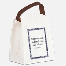 One May Smile, and Smile Canvas Lunch Bag