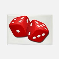Red Dice Rectangle Magnet