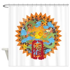 goodfortunedragons.png Shower Curtain