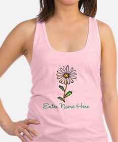 Personalized Daisy Racerback Tank Top