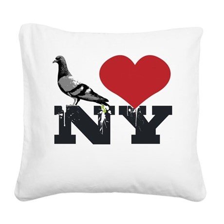 NYpigeon2.png Square Canvas Pillow