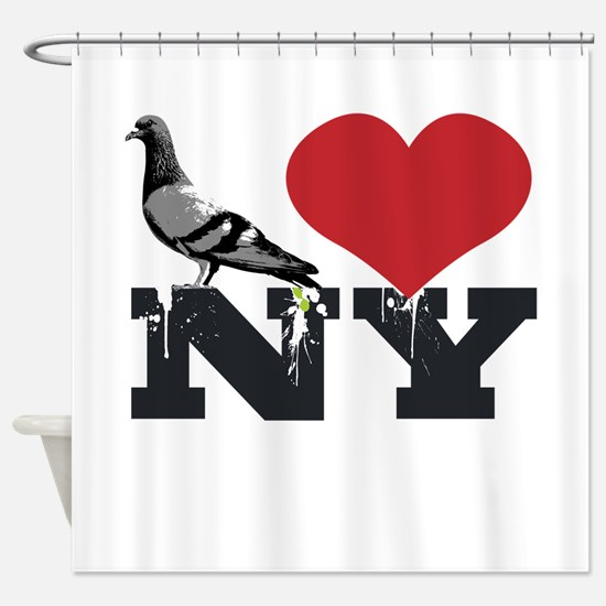 NYpigeon2.png Shower Curtain