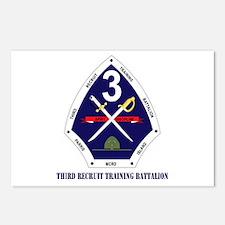 Third Recruit Training Battalion with Text Postcar