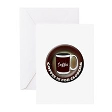 Coffee is for Closers Greeting Cards (Pk of 20)