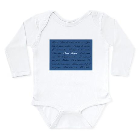 Learn French Long Sleeve Infant Bodysuit