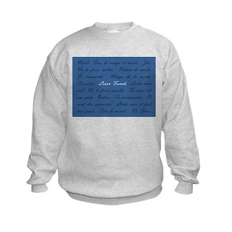 Learn French Kids Sweatshirt