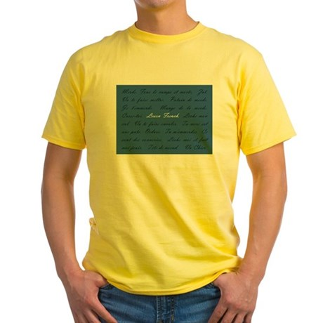 Learn French Yellow T-Shirt