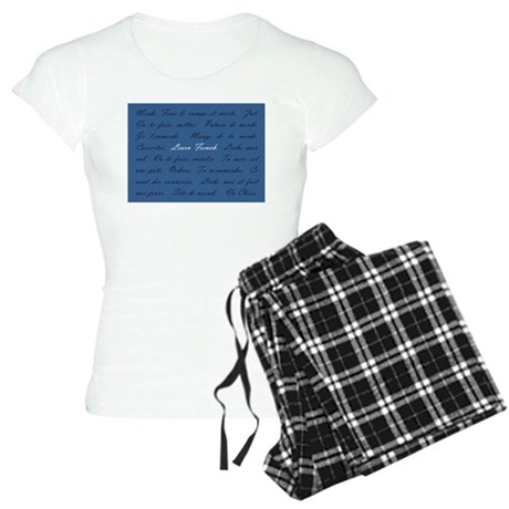 Learn French Women's Light Pajamas