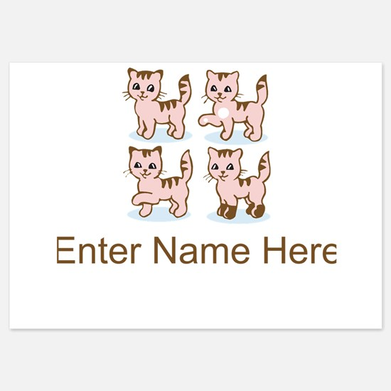Personalized Kittens 5x7 Flat Cards