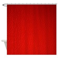 Red Leather Shower Curtain