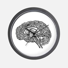 Science Geek Brain Wall Clock