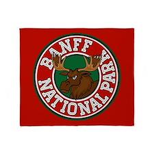Banff Moose Circle Throw Blanket