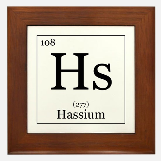 Elements - 108 Hassium Framed Tile