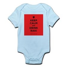 Keep Calm and drink raki Infant Bodysuit