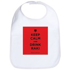 Keep Calm and drink raki Bib