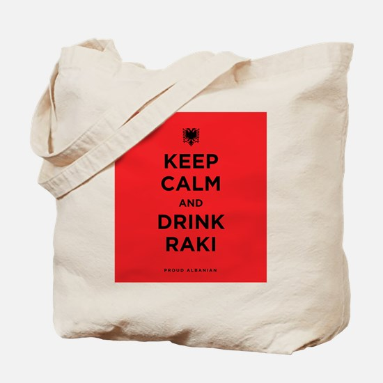 Keep Calm and drink raki Tote Bag