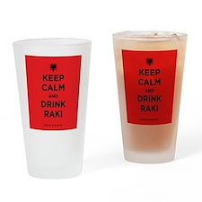 Keep Calm and drink raki Drinking Glass