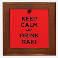 Keep Calm and drink raki Framed Tile