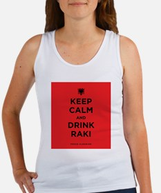 Keep Calm and drink raki Women's Tank Top