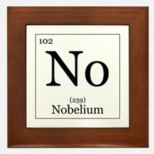 Elements - 102 Nobelium Framed Tile