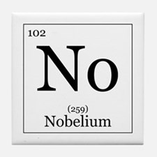 Elements - 102 Nobelium Tile Coaster