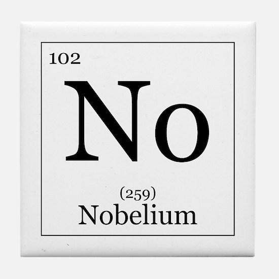 Elements - 102 Nobelium Tile Coaster