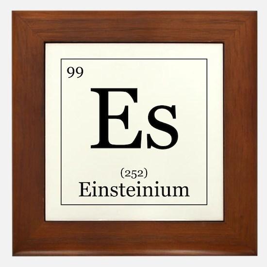 Elements - 99 Einsteinium Framed Tile