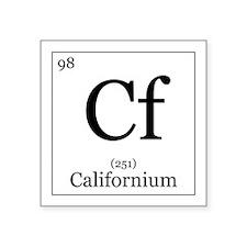 """Elements - 98 Californium Square Sticker 3"""" x 3"""""""