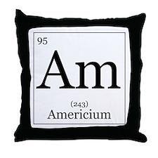 Elements - 95 Americium Throw Pillow