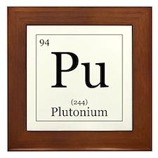 Elements - 94 Plutonium Framed Tile