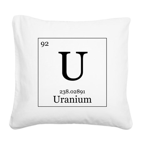 Elements - 92 Uranium Square Canvas Pillow