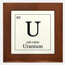 Elements - 92 Uranium Framed Tile