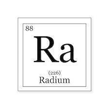 "Elements - 88 Radium Square Sticker 3"" x 3"""