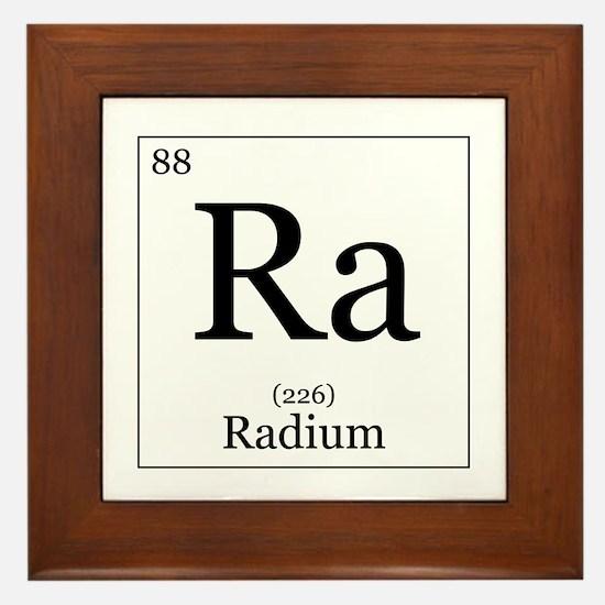 Elements - 88 Radium Framed Tile
