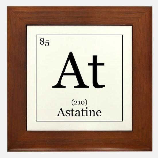 Elements - 85 Astatine Framed Tile