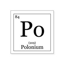"Elements - 84 Polonium Square Sticker 3"" x 3"""