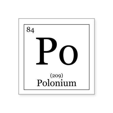 Symbol For The Chemical Element Polonium Stock Photo, Picture And ...