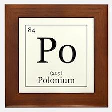 Elements - 84 Polonium Framed Tile