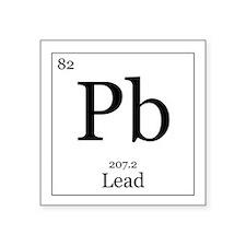 """Elements - 82 Lead Square Sticker 3"""" x 3"""""""