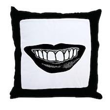 Goth Grin Throw Pillow
