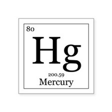 "Elements - 80 Mercury Square Sticker 3"" x 3"""