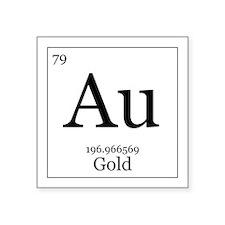 "Elements - 79 Gold Square Sticker 3"" x 3"""