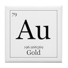 Elements - 79 Gold Tile Coaster