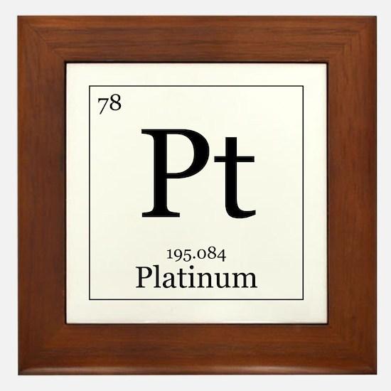 Elements - 78 Platinum Framed Tile