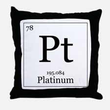 Elements - 78 Platinum Throw Pillow