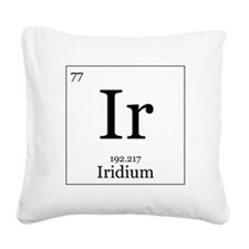 Elements - 77 Iridium Square Canvas Pillow