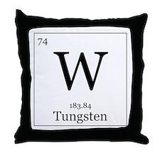 Elements - 74 Tungsten Throw Pillow