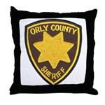 Orly County Sheriff Throw Pillow
