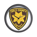 Orly County Sheriff Wall Clock